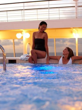 Jacuzzi aboard Crystal Cruises