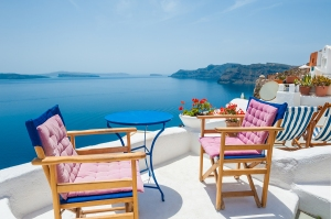Beautiful Greek Terrace with Sea View