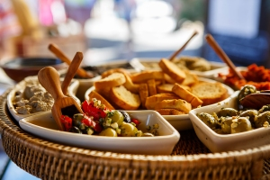 Olive Tapenades on Provencal Street Market In Provence