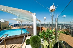 MSC Yacht Club Private Pool Deck