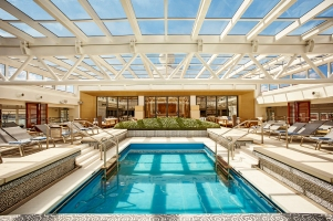 The Main Pool area onboard