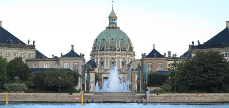 Royal palace Amalienborg, Copenhagen Denmark