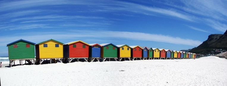 Beach Huts Muizenburg beach near cape town