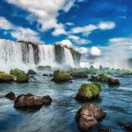 Iguacu Falls Iguacu National Park Waterfall Argentina Brazil