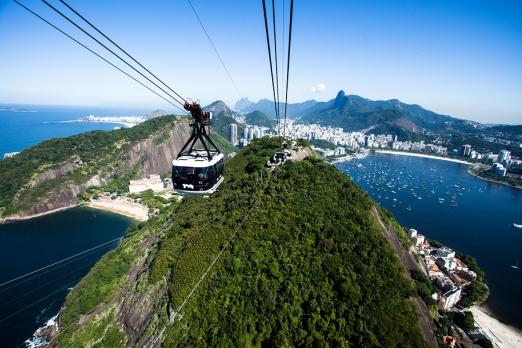 Cable Car To Sugar Loaf In Rio De Janeiro