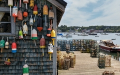 New England Lobster Fishing Dock Maine